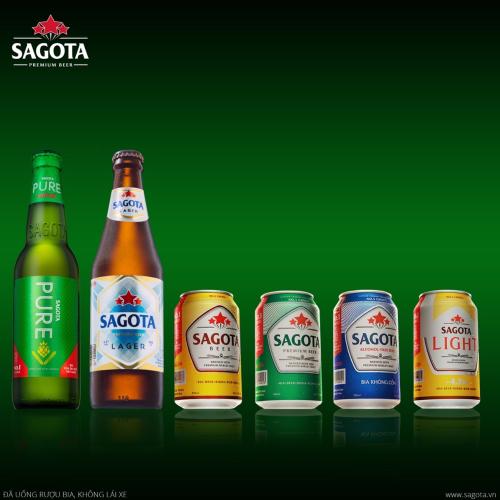 6 dòng sản phẩm bia Việt mang thương hiệu Sagota.