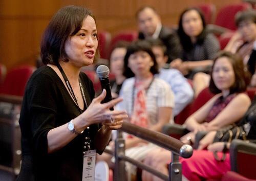 Bà Tiêu Yến Trinh – CEO Công ty Talentnet nhấn mạnh tầm quan trọng trong đầu tư phát triển nguồn nhân lực