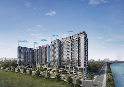 Dự án One Verandah sở hữu tầm nhìn trực diện ra sông Sài Gòn cùng khu trung tâm thành phố.