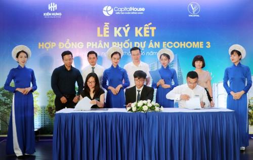 Đại diện chủ đầu tư ký kết hợp tác cùngVinCapital và Địa ốc Kiến Hưng.