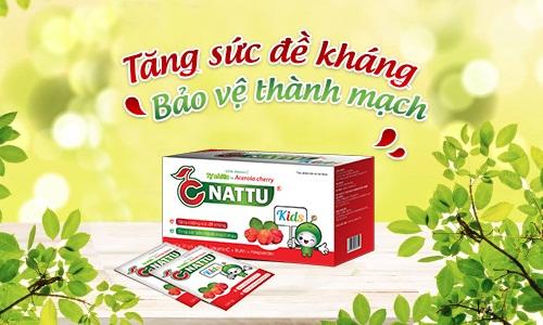 Thực phẩm bảo vệ sức khỏe CNattu kids hỗ trợ tăng cường sức đề kháng cho trẻ.