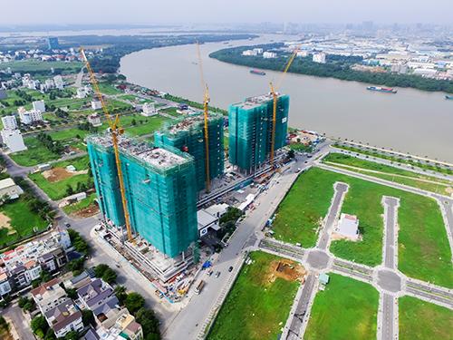 Toàn cảnh dự án được cất nóc đúng tiến độ sau 12 tháng thi công.