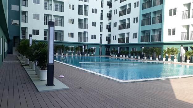 Bể bơi trong khu nhà ở xã hội của HUD tại tp Bắc Ninh
