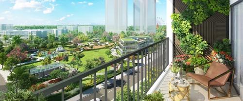 Căn hộ dự án hướng ra công viên nội khu Eco Green Central Park và công viên Hương Tràm.