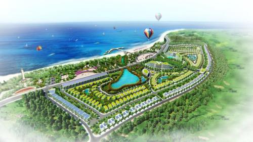 AE Resort Cửa Tùng, Quảng Trị là phức hợp giải trí và nghỉ dưỡng, có quy mô hơn 36 ha với tổng vốn đầu tư gần 2.000 tỷ đồng của Tập đoàn AE.