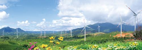 Điện gió Hướng Linh - Quảng Trị đã đi vào hoạt động với vốn đầu tư gần 3.200 tỷ đồng.