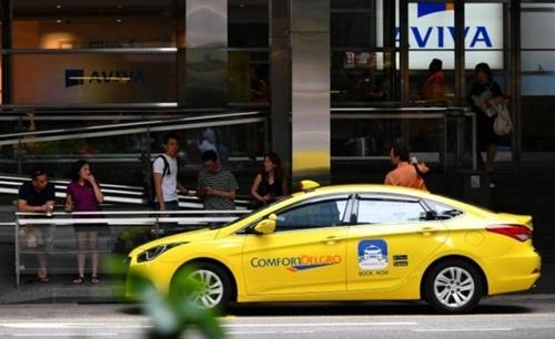 Taxi ComfortDelgro tại Singapore. Ảnh: The Straits Times.