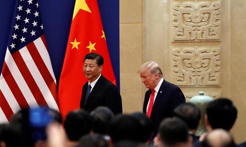 Tổng thống Donald Trump gặp ông Tập Cận Bình tại Trung Quốc năm 2017. Ảnh: Reuters