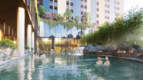 Nước khoáng nóng Thanh Thủy mang tới nhiều lợi ích sức khỏe.