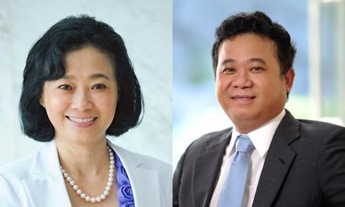 Bà Đặng Thị Hoàng Yến và em trai Đặng Thành Tâm.
