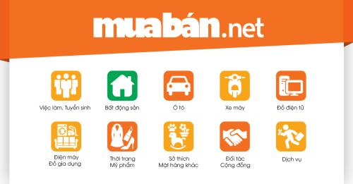 Giao diện website Muaban.net.