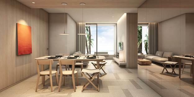 Căn hộ biển Thanh Long Bay được trang bị hoàn thiện nội thất 5 sao, thuận tiện cho khách hàng vừa nghỉ dưỡng, vừa kinh doanh cho thuê.