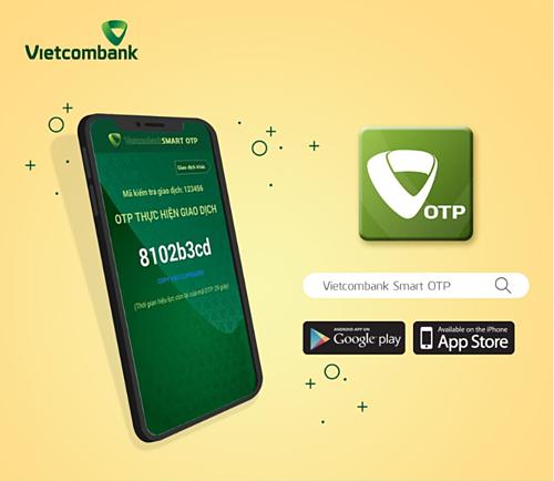 Tải ứng dụng Smart OTP của Vietcombank miễn phí trên Google Play và App Store.