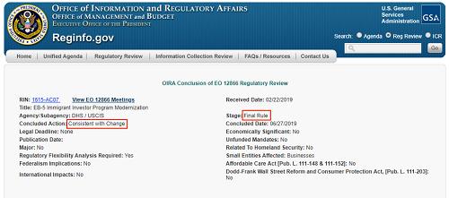 Công bố đăng trên website của Cục Quản lý Hành chính và Ngân sách Chính phủ Mỹ (OMB).