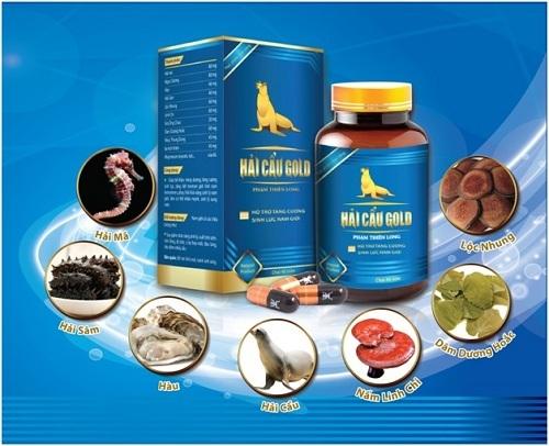 Hải Cẩu Gold với các thành phần tự nhiên, đặc biệt có chứa tinh dầu hải cẩu, tang cường sinh lực