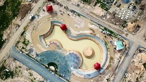 Công viên Osaka đã hoàn thành được 50% tiến độ.