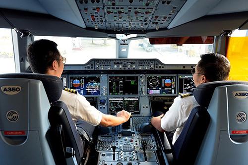 Phi công một hãng hàng không của Việt Nam. Ảnh: Vietnam Airlines