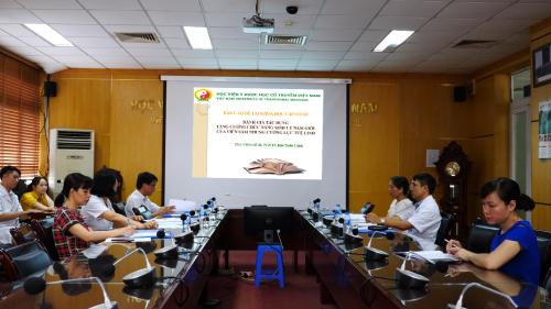 Buổi báo cáo đề tài đánh giá tác dụng tăng cường chức năng sinh lý nam giới của viên Sâm nhung cường lực Tuệ Linh.