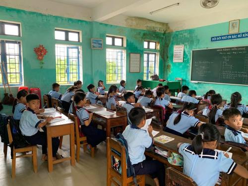 Không gian học tập tại trường tiểu học Quảng Thái.