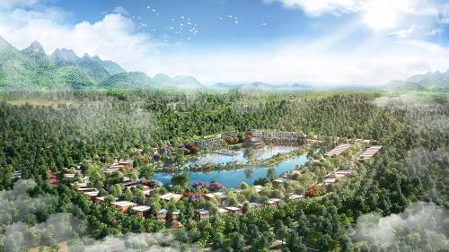Vedana Resort hút khách nhờ vị trí.