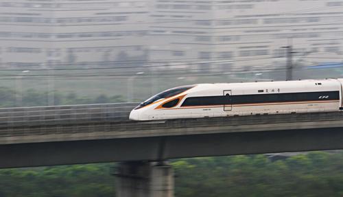 Tàu Fuxing của Trung Quốc chạy tuyến Bắc Kinh - Thượng Hải. Ảnh: Reuters