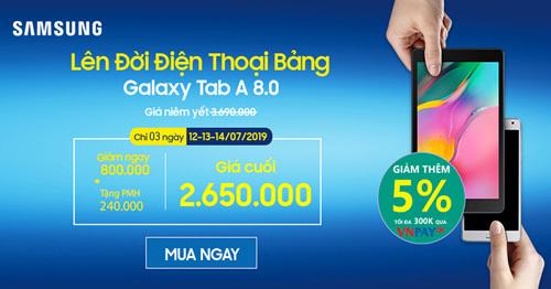 Samsung giảm giá mạnh điện thoại bảng.