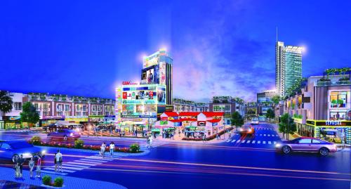 Phối cảnhchợ truyền thống kết hợp trung tâm thương mại hiện đại củaHana Garden Mall.
