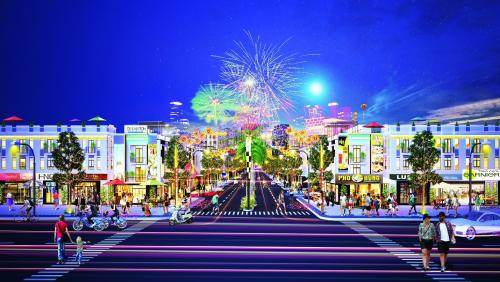 Phố đi bộHana Garden Mall là điểm vui chơi, giải trí cho giới trẻ và lao động người nước ngoài.