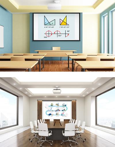 Máy chiếu là một trong những thiết bị thông dụng tại trường học và công sở.