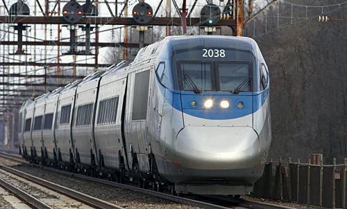 Tàu Acela chạy tuyến cao tốc của Amtrak. Ảnh: Amtrak