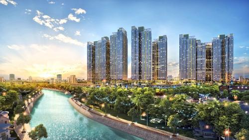Phối cảnh dự án Sunshine City Sài Gòn với hướng nhìn đẹp ra sông Cả Cấm. Hotline: 18006233. Website.