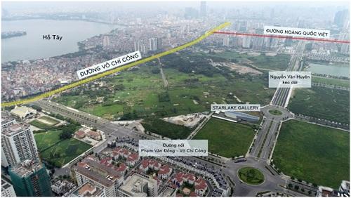 Đường Ngô Minh Dương (nối hai tuyến đường vành đai Võ Chí Công và Phạm Văn Đồng) và đường Nguyễn Văn Huyên kéo dài