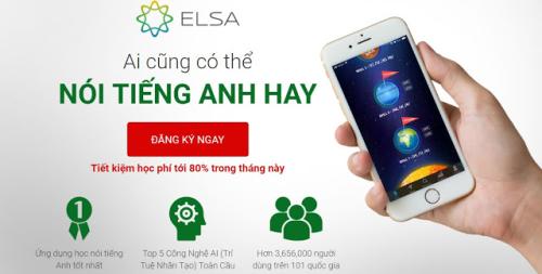 ELSA Speak ứng dụng trí tuệ nhân tạo thông minh