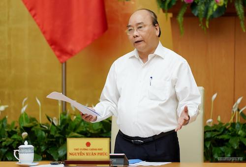 Thủ tướng Nguyễn Xuân Phúc làm việc với Uỷ ban Quản lý vốn Nhà nước tại doanh nghiệp. Ảnh: VGP