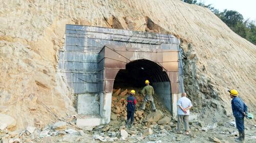 Dự án nhà máy thủy điện Nậm Pạc đang thi công.