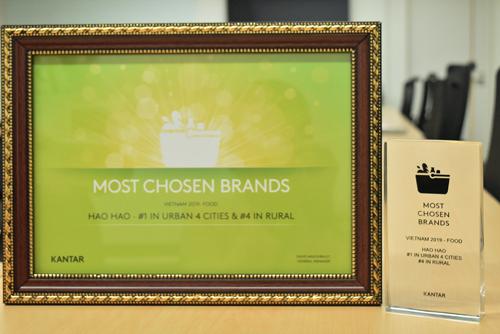 Mì Hảo Hảo 2 năm liên tiếp ghi tên vào top 1 Thương hiệu thực phẩm được chọn mua nhiều nhất tại khu vực thành thị.