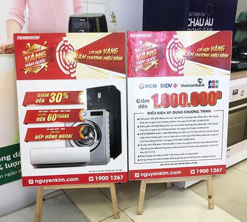 Nguyễn Kim thường xuyên triển khai nhiều chương trình ưu đãi cùng lúc, phối hợp với các đối tác nhằm mang đến giải pháp mua hàng tối ưu cho khách hàng. Thông tin tại www.nguyenkim.com. Hotline: 19001267.