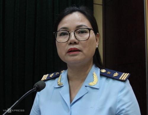 Bà Nguyễn Thu Nhiễu - Phó cục trưởng Cục Kiểm tra sau thông quan (Tổng cục Hải quan). Ảnh: H.Thu