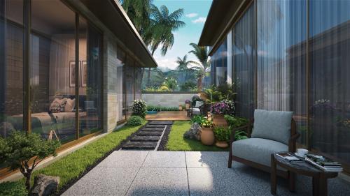 Phối cảnh Six Miles Coast Resort với phong cách thiết kế hài hòa cùng thiên nhiên.