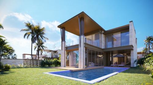 Các biệt thự Six Miles Coast sở hữu hồ bơi riêng và không gian sân vườn rộng.