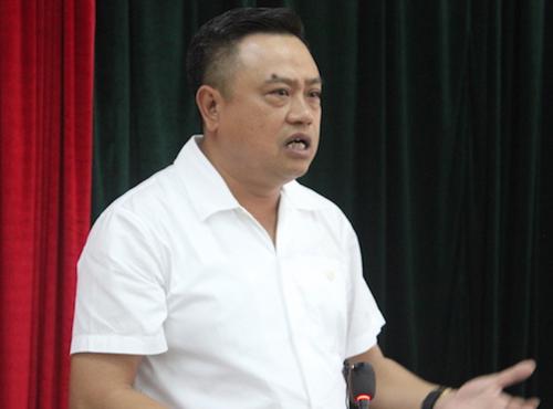 Ông Trần Sỹ Thanh chia sẻ về khó khăn của Nhiệt điện Thái Bình 2 sáng 23/7. Ảnh: H.Thu.
