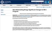 Sở Di trú Mỹ công bố tăng hạn mức đầu tư EB-5