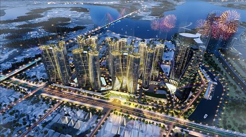 Sunshine Diamond River được kỳ vọng làm nên một khu đô thị nghỉ dưỡng phong cách resort ven sông Sài Gòn.