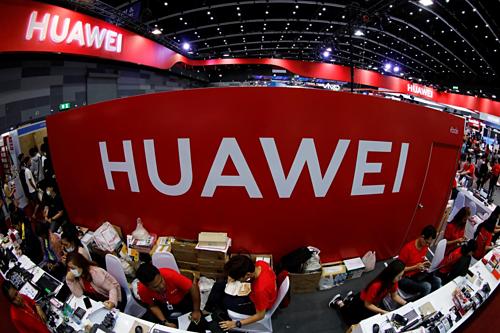 Gian hàng của Huawei tại một triển lãm ở Thái Lan. Ảnh: Reuters