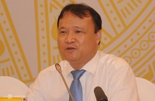 Ông Đỗ Thắng Hải - Thứ trưởng Công Thương trả lời tại họp báo Chính phủ ngày 1/8. Ảnh: Viết Tuân