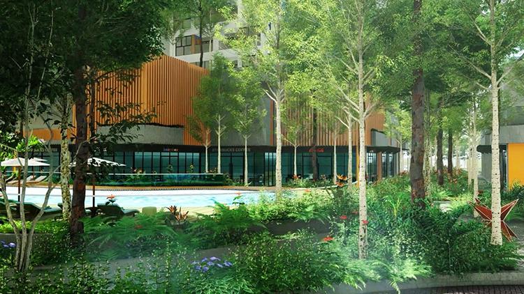Theo ước tính, không gian xanh của Charm City có thể lọc 56 triệu lít khí ô nhiễm và cung cấp hơn 56 triệu lít khí oxy thanh khiết mỗi năm, giúp nhiệt độ trong dự án thấp hơn so với môi trường xung quanh từ 3 đến 4 độ C, chủ đầu tư cho biết. Với hai yếu tố chủ đạo là cây và nước, Charm City dành gần 20.000 m2 để phát triển không gian xanh. Theo công bố, riêng diện tích dành cho không gian xanh của dự án đã lớn gấp 3 đến 4 lần tổng quy mô đầu tư của nhiều dự án vừa phải tại thành phố.