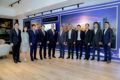 Lãnh đạo SonKim Land và các nhà đầu tư quốc tế.