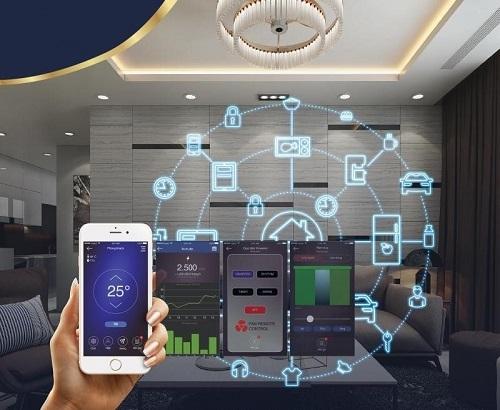 Công nghệ 4.0 áp dụng trong các tiện ích căn hộ và dịch vụ an ninh toàndự án.