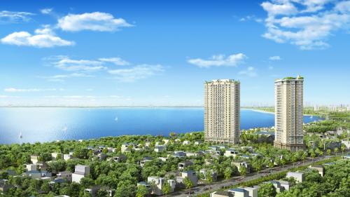 Phối cảnh D'. El Dorado I - dự án sở hữu các căn hộ Dual Key kế bên hồ Tây