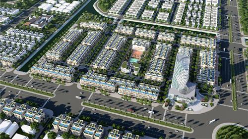 Phối cảnh phân khu đất nền dự án Melody City nhìn từ trên cao
